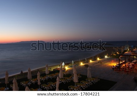 Beautiful night on the island of Crete. Greece - stock photo