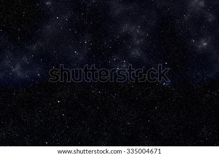 Beautiful night sky - stock photo