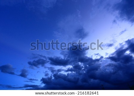 beautiful night sky with cloud background
