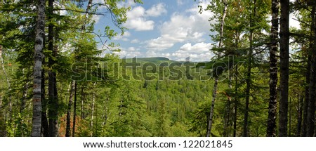 Beautiful northern Minnesota wilderness - stock photo