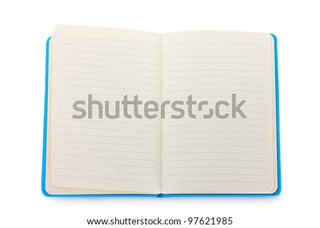beautiful notebook isolated on white - stock photo