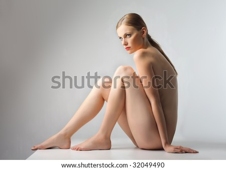 beautiful nude woman - stock photo