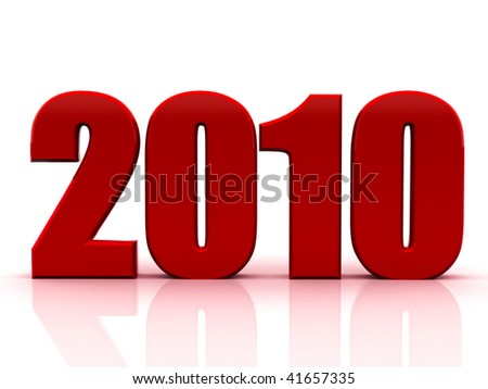 Beautiful numerical designation of new 2010 year - stock photo
