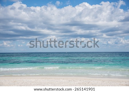 Beautiful ocean at caribbean destination, traveling Mexico. Central America. - stock photo