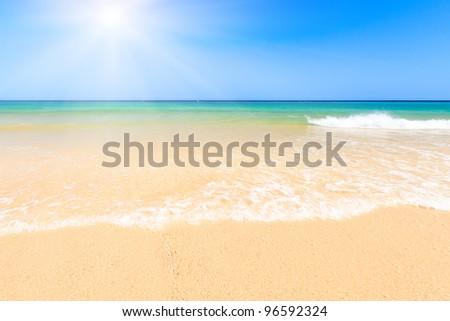 Beautiful ocean beach - stock photo