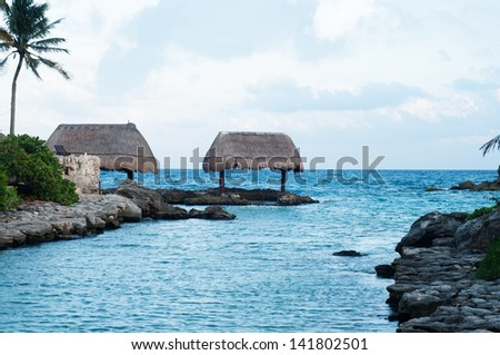 Beautiful ocean view in Mexico - stock photo