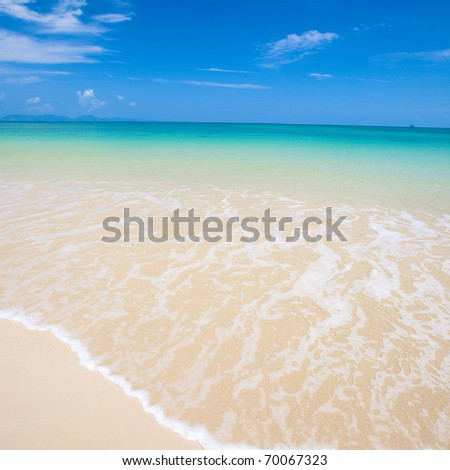 Beautiful ocean view of the sea with crystal clear water. - stock photo