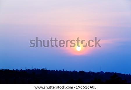 Beautiful of sunset time  - stock photo