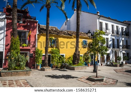 beautiful old city Marbella in Spain - stock photo