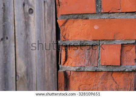 Beautiful old colored brick wall