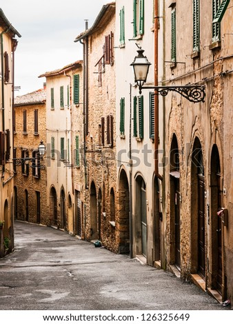 beautiful old facades at the tuscany - italy
