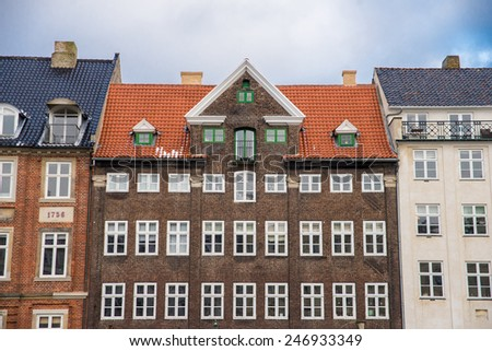 beautiful old house in Copenhagen - stock photo