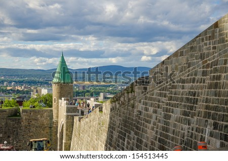 Beautiful Old Quebec City Fort  - stock photo