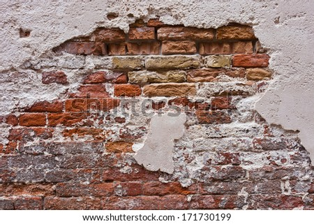 Beautiful old red brick wall texture background