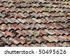 Beautiful old red tile - stock photo