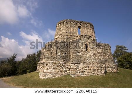 Beautiful old stone monastery ruin - stock photo