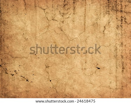 Beautiful old wall with cracks and texture - stock photo