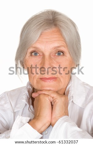 beautiful older woman - stock photo