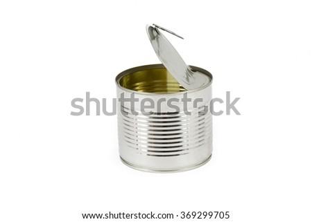 Beautiful open can - stock photo