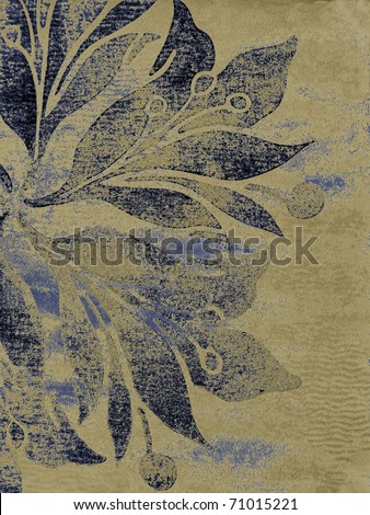 Beautiful oriental floral ornamented background. More of this motif & more ornaments in my port. - stock photo