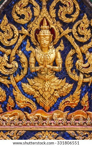 Beautiful ornaments of one the buildings of the Wat Phra Kaew complex.