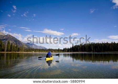 Beautiful outdoor scene in Wyoming - stock photo