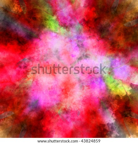 Beautiful Painted Colors - stock photo