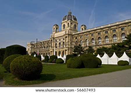 beautiful palace housing a museum in Vienna