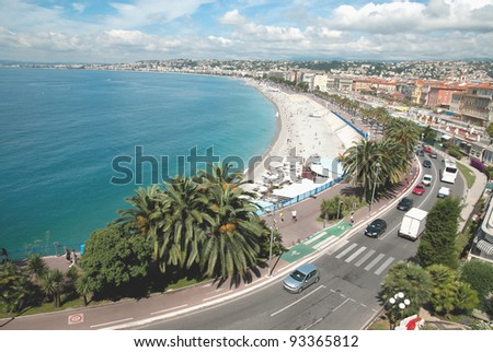Beautiful panorama city of Nice in France. - stock photo