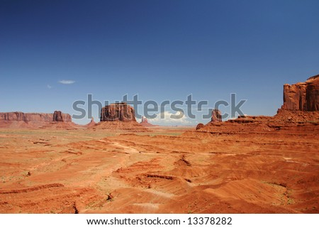 Beautiful panorama of Monument valley
