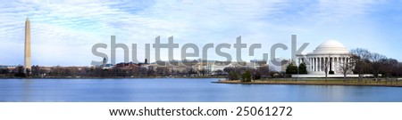 Beautiful Panoramic of Washington DC - stock photo