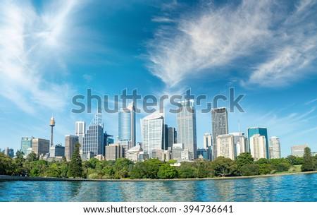 Beautiful panoramic skyline of Sydney, NSW - Australia. - stock photo