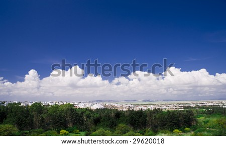 beautiful panoramic view of the sky - stock photo