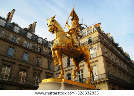 Beautiful Paris, Jeanne D'Arc Statue, France