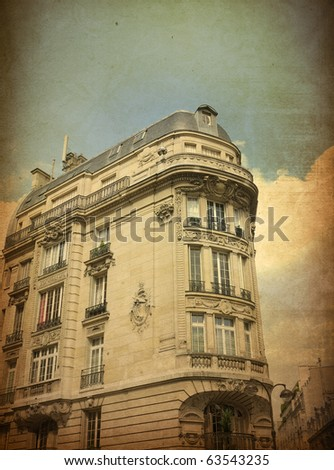beautiful Parisian streets - with space for text or image - stock photo