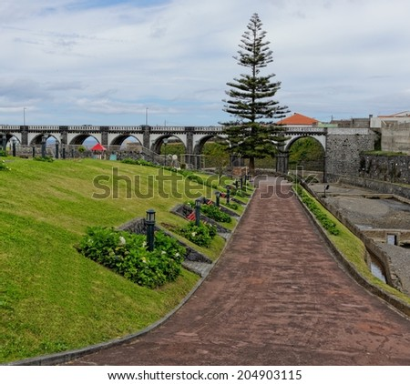 Beautiful park in Ribeira Grande, Sao Miguel, Azores