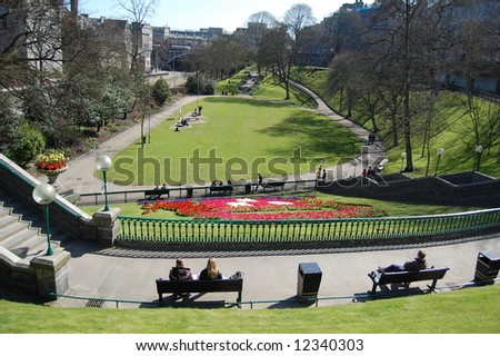 beautiful park in spring, Aberdeen
