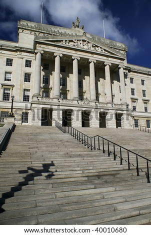 Beautiful Parliament Building.  Stormont in Northern Ireland - stock photo