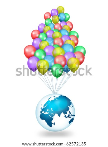 Beautiful Party Balloons - stock photo