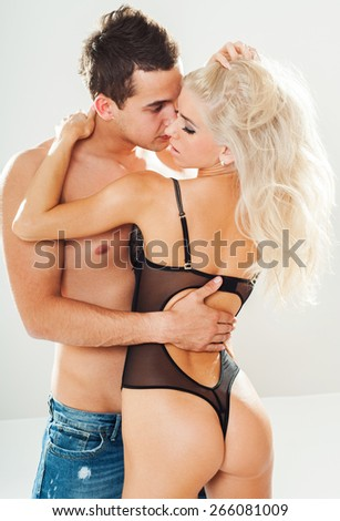 Beautiful passionate lovers. Love concept. - stock photo