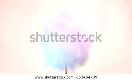 Beautiful pastel color cotton candy. 3d render picture.