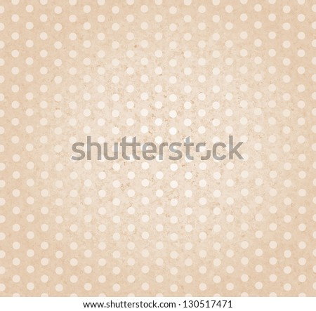 Beautiful pastel pink vintage background with dots - stock photo