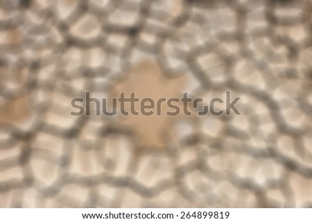Beautiful pattern of land cracked by the drought intentionally blurred - stock photo