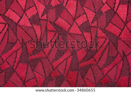 Beautiful patterns on a fabric piece - stock photo