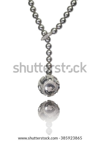 Beautiful pearl necklace isolated on a background