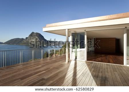beautiful penthouse - stock photo