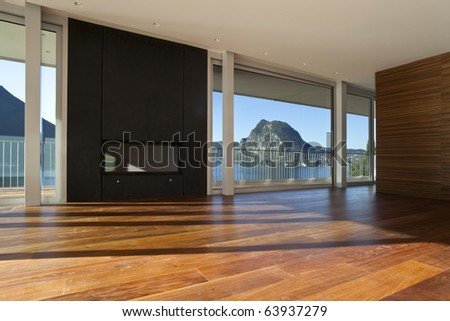 beautiful penthouse - stock photo