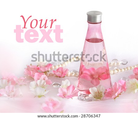 Beautiful perfume background pink white flowers stock photo royalty beautiful perfume background with pink and white flowers mightylinksfo