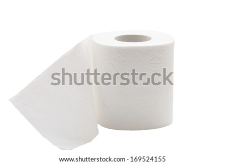 Beautiful photo toilet paper isolated on white background. - stock photo