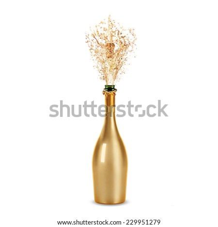 Beautiful picture of a bottle of champagne